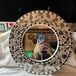 Beautiful mirror made out of broken glass